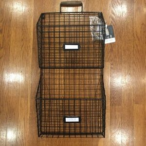 NEW Rae Dunn 2 Section Wall File Holder